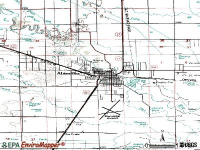 Alamosa topographic map