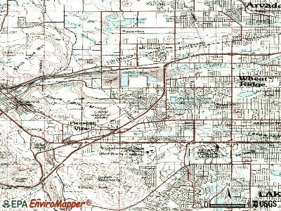 Applewood topographic map