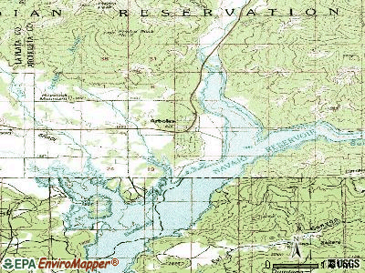 Arboles topographic map