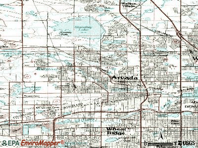 Arvada topographic map