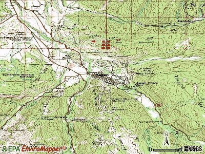 Aspen topographic map