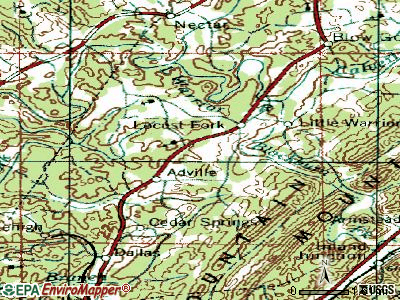 Locust Fork topographic map