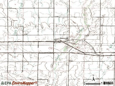 Bennett topographic map