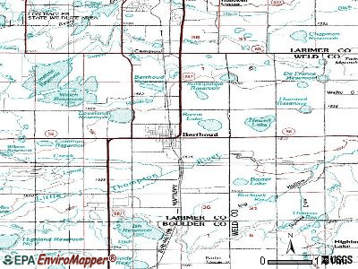 Berthoud topographic map