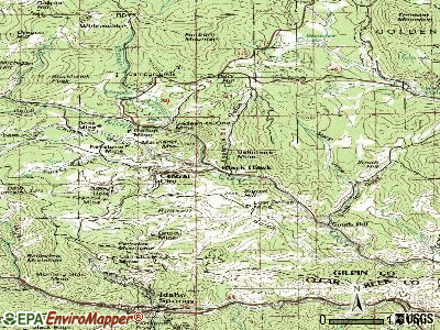 Black Hawk topographic map