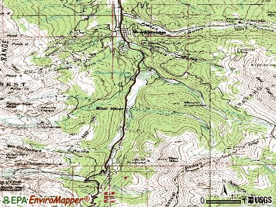 Blue River topographic map