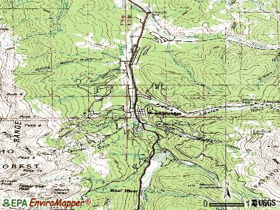 Breckenridge topographic map