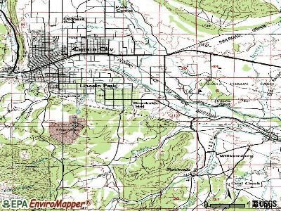 Brookside topographic map