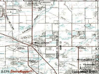 Broomfield topographic map