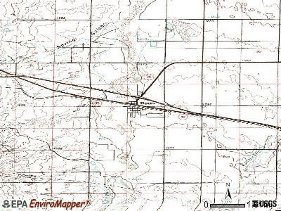 Byers topographic map