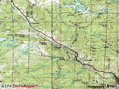 Cascade-Chipita Park topographic map