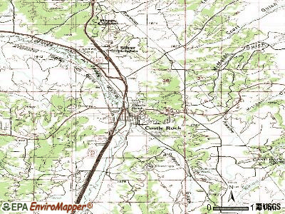 Castle Rock topographic map