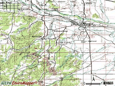 Coal Creek topographic map