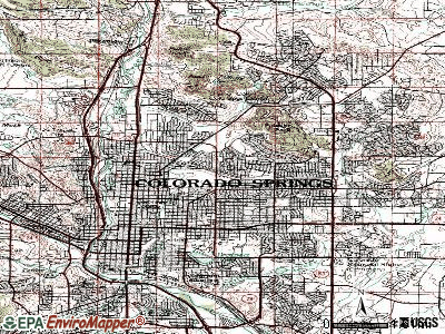 Colorado Springs topographic map