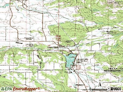 Crawford topographic map