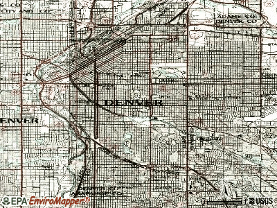 Denver topographic map