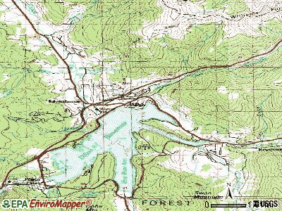 Dillon topographic map