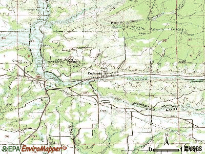 Dolores topographic map