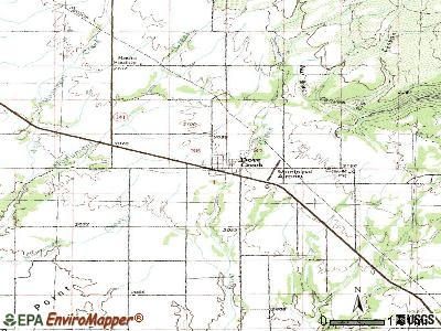 Dove Creek topographic map