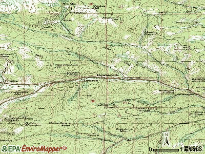 Downieville-Lawson-Dumont topographic map