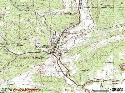Durango topographic map
