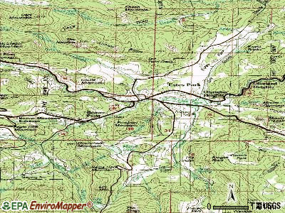 Estes Park topographic map