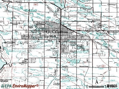 Fort Collins topographic map