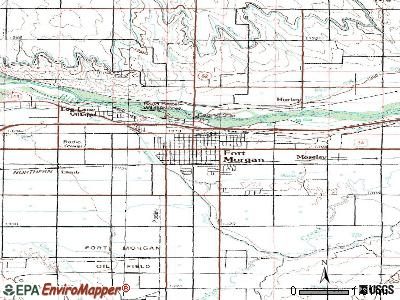 Fort Morgan topographic map