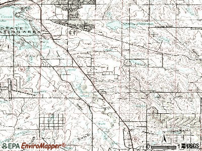 Foxfield topographic map