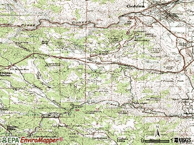 Genesee topographic map