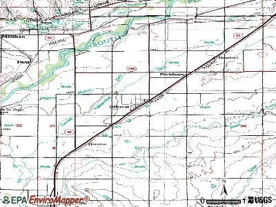 Gilcrest topographic map