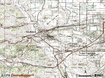 Golden topographic map