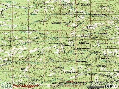 Gold Hill topographic map