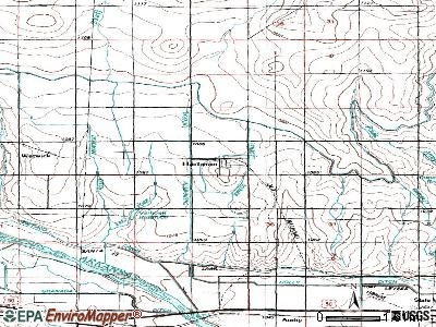 Hartman topographic map