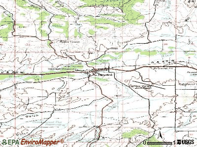 Hayden topographic map