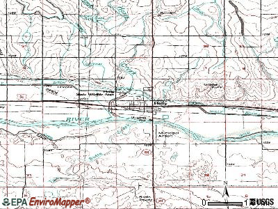 Holly topographic map
