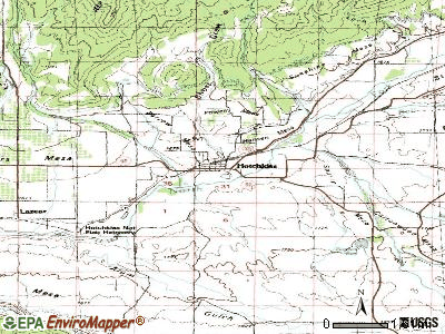Hotchkiss topographic map