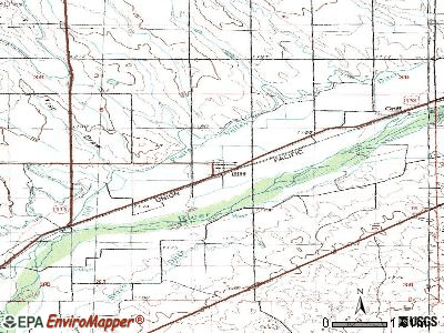 Iliff topographic map