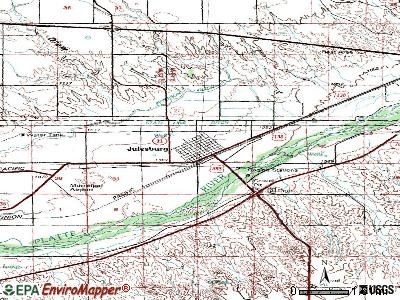 Julesburg topographic map