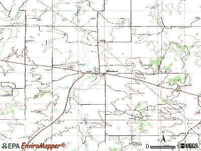Kiowa topographic map