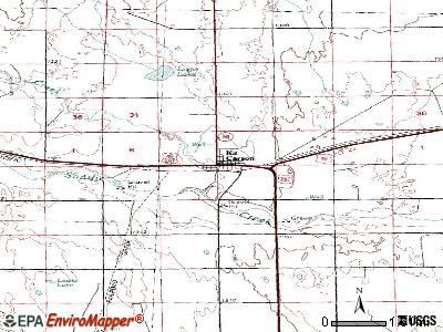 Kit Carson topographic map