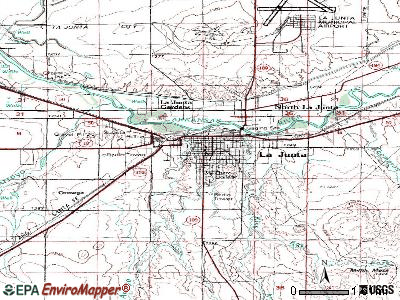 La Junta topographic map