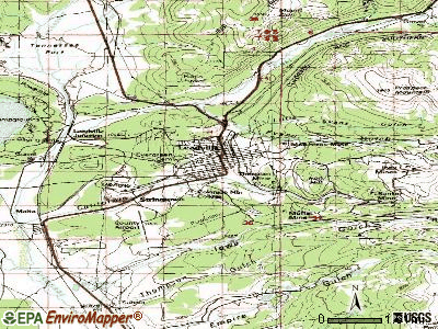 Leadville topographic map