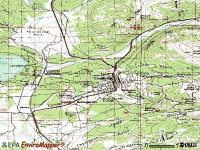 Leadville North topographic map