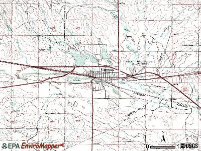 Limon topographic map