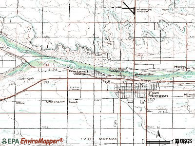 Log Lane Village topographic map