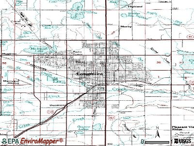 Longmont topographic map
