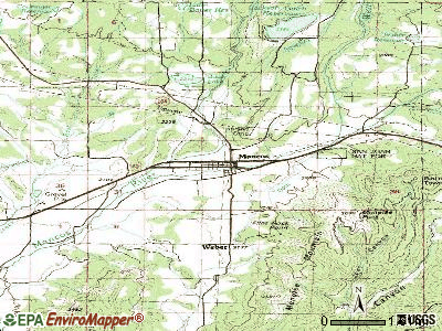 Mancos topographic map