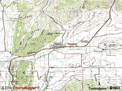 Meeker topographic map