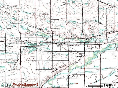 Meridian topographic map